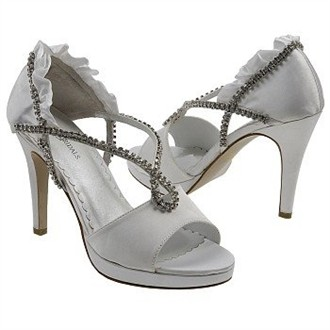 Prima Rhinestone and Ruffle Heel Shoes by Allure Bridals Footwear