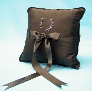 Horseshoe Ring Pillow for Western Weddings