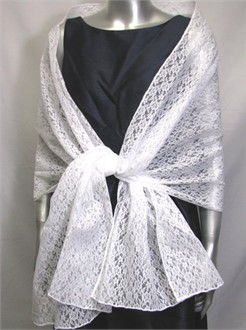 White Lace Shawl - White Bridal Shawl