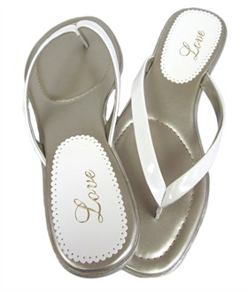 White Patent Leather Love Sandals