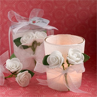 White Rose Candle Favors-6105