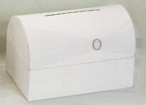 White Satin Money Box