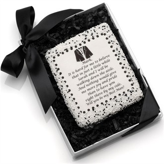 Gourmet Will You Be My Groomsman? Invitation Cookie