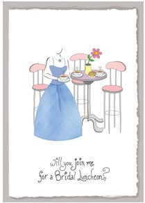 Will You Join Me For A Bridal Luncheon? Card
