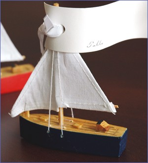 Beach Wedding Favors Wooden Sailboat Favor